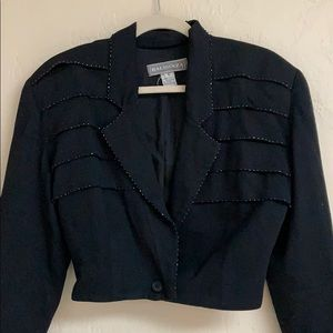 Vintage 1990s cropped western inspired blazer, S